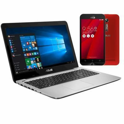 """PC Portable 15.6'' Asus R558UA-XX1049T - i5-7200U, 4 Go de RAM, 1 To + Smartphone 5"""" ZenFone Go - 2 Go RAM, 16 Go ROM"""