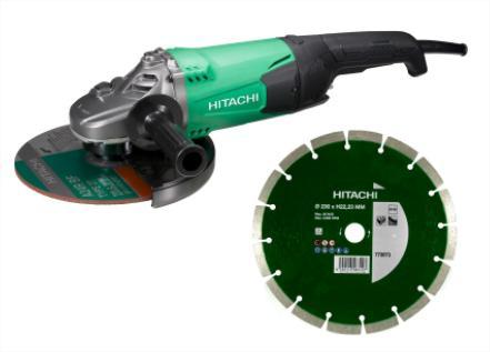 Meuleuse électrique Hitachi G23SW2 (Ø230mm, 2200W) + Disque diamant
