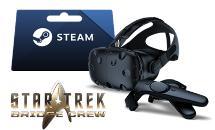 Casque de Réalité Virtuelle HTC Vive  + Star Trek Bridge Crew + Carte Steam de 50€