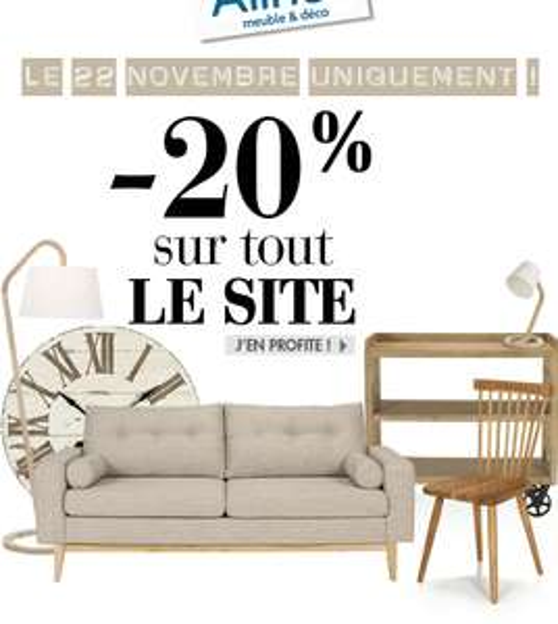 Demain -20% sur TOUT le site (hors electromenager)