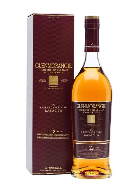 Bouteille de whisky Glenmorangie Lasanta - 12 ans d'âge, 70 cl (via BDR + 18.75€ sur la carte de fidélité)