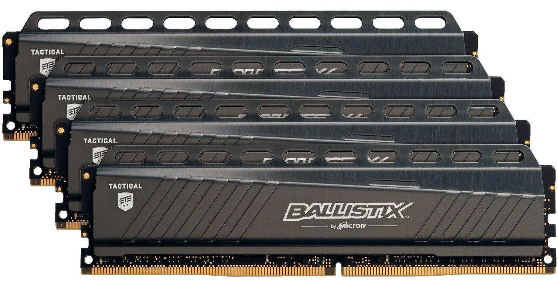 Kit mémoire RAM DDR4 Crucial Ballistix Tactical - 32 Go (4 x 8 Go), 3000 MHz, 1.35V, CL15