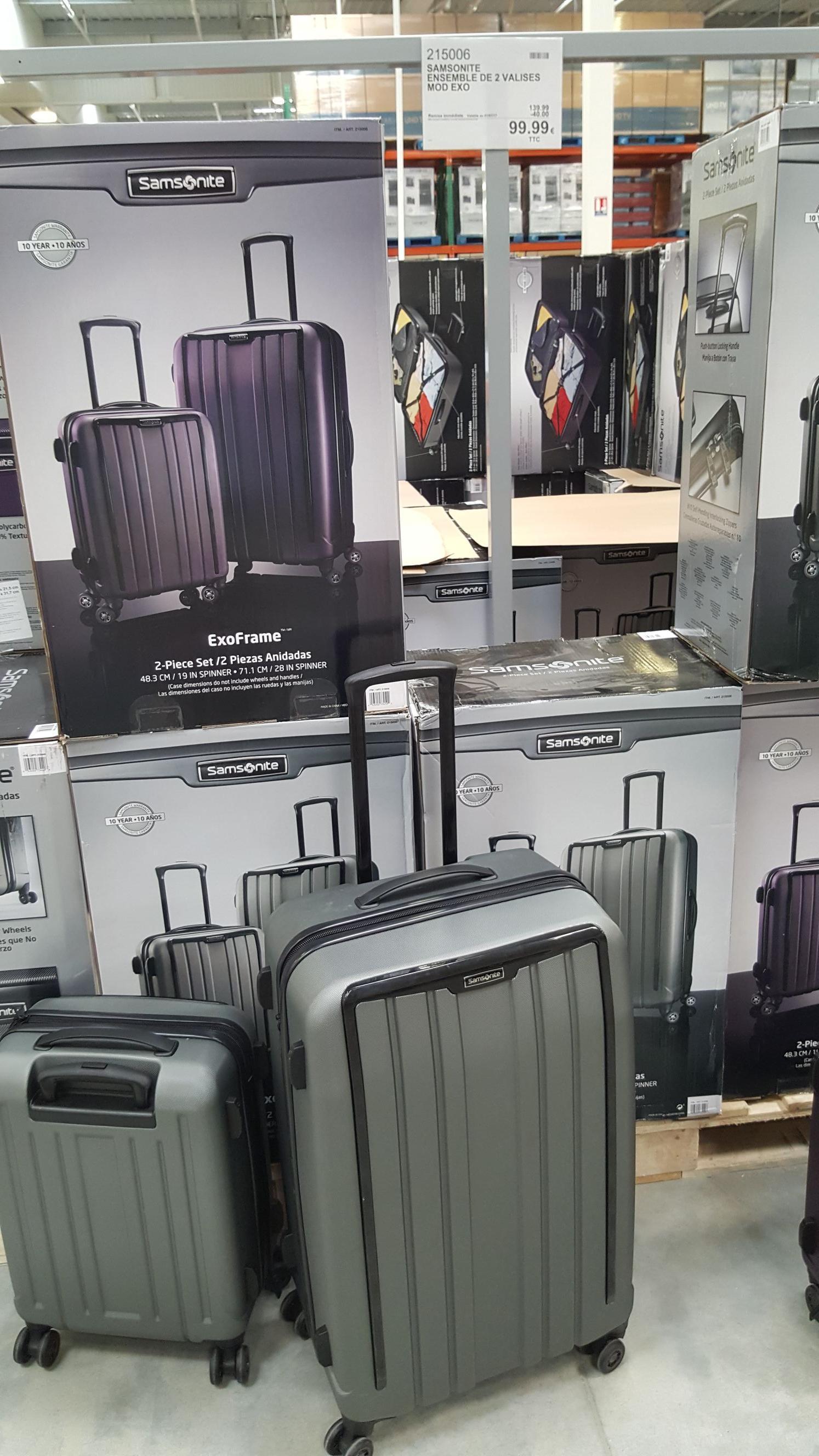 [Carte CostCo] Lot de 2 valises Samsonite - 48.3cm et 71.1cm - Villebon-sur-Yvette (91)