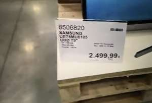 "[Carte CostCo] Sélection de TV en promotion - Ex : TV 75"" Samsung UE75MU6105 - 4K UHD"