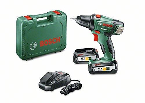 Perceuse-visseuse sans-fil Bosch PSR 18 Li-2 + 2 batterie et coffret (via ODR de 40€)