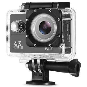 Camera sportive F60 - 4K 30fps, 16MP, WiFi, Noir