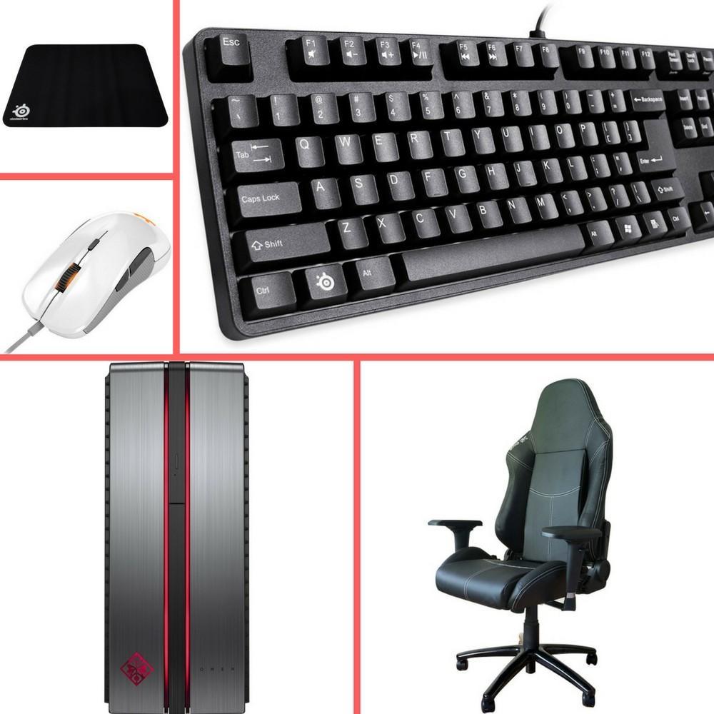 PC HP Omen 870-203NF (i5-7400, 8 Go RAM, 1 To, GTX 1070 RECONDITIONNÉ) + Pack Steelseries: Souris Rival 300, Tapis de souris Qck+ et Clavier mécanique G6V2 + Fauteuil Gaming Seat Elite