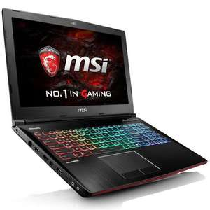"PC portable 15.6"" MSI GE62VR 6RF-016FR Apache Pro - Intel i7-6700HQ, 16 Go RAM, 1 To + 256 Go SSD, GTX 1060"