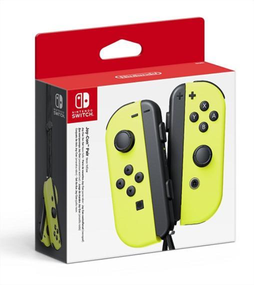 Paire de manettes Joy-Con pour Nintendo Switch - Jaune néon