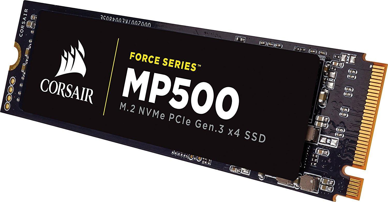 SSD interne M.2 NVMe Corsair Force MP500 (MLC) PCI-E 3.0 4x  - 480 Go