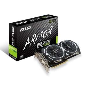 Carte graphique MSI GeForce GTX 1080 Armor 8Go OC GDDR5X + Destiny 2 (Via ODR 50€)