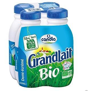 Sélection d'articles en promotion - Ex : pack de lait UHT demi-écrémé Candia GrandLait Bio - 4x50cl (via BDR)