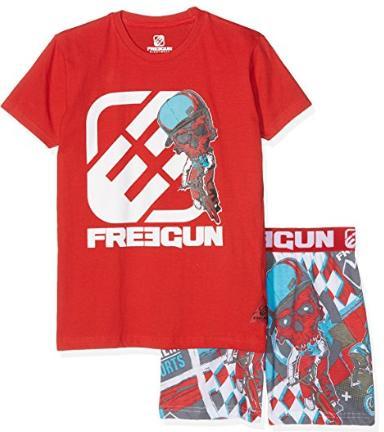 Ensemble de Pyjama Freegun Rouge pour Enfants (Garçons) - Tailles au choix