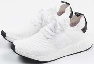 Chaussures Adidas NMD R2 Primeknit BY3015 Blanc pour Hommes - Tailles au choix