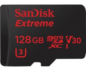 Carte microSDXC Sandisk Extreme UHS-I U3 V30 - 128 Go