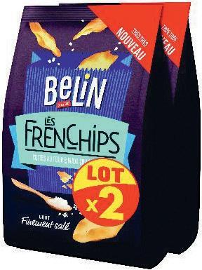 Lot de 2 paquets de biscuits apéritifs Belin Les FrenChips - différents goûts, 100 g (via BDR)