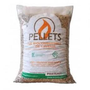 Sac de granulés de bois Piveteau Din+ - 15 kg