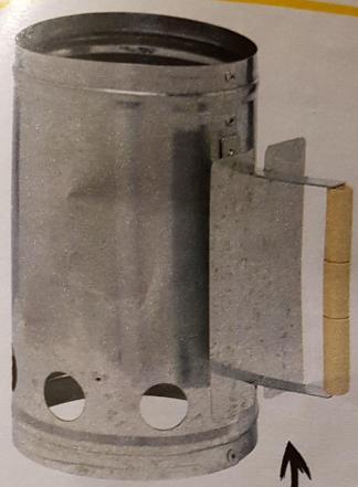 Cheminée d'allumage en Acier au Charbon de Bois - 16 cm x 27,5cm