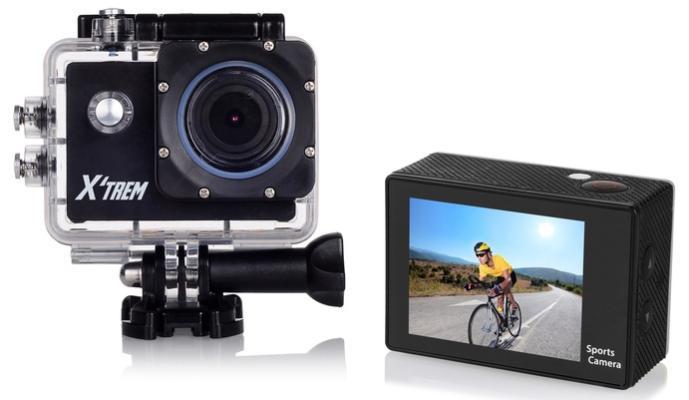 """Caméra Sportive Étanche X'Trem avec Écran LCD 2"""" -  HD (720P) + Accessoires"""