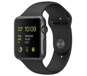 Montre connectée Apple Watch Series 2 - 42 mm, aluminium gris sidéral, bracelet sport noir (via ODR de 50€)