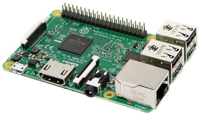 Mini-PC Raspberry Pi 3 B (Version UK) - Quad-core ARM Cortex-A53, RAM 1Go, Wi-Fi / Bluetooth / Ethernet, 4x USB, microSD