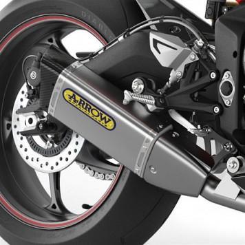 Sélection de pièces pour moto Triumph en promotion - Ex : échappement Daytona Arrow Silencer Assembly (A9600422)