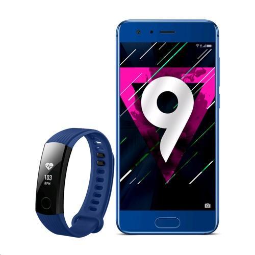 "Smartphone 5.15"" Honor 9 - Full HD, Kirin 960, 64 Go ROM, 4 Go RAM + Bracelet connecté Honor Band 3 (via ODR 30€)"