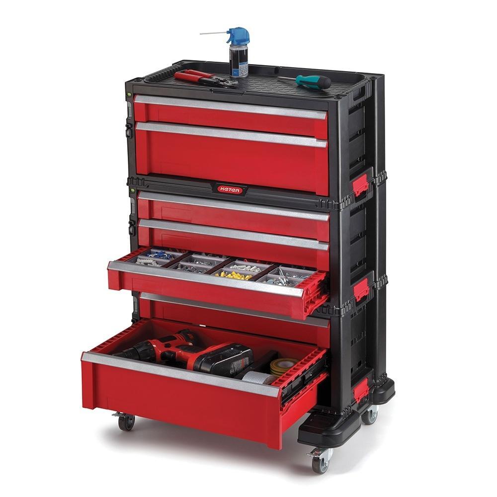 Sélection d'articles Keter / Allibert en promotion - Ex : Servante à outils 7 tiroirs Keter - 56x29x74cm