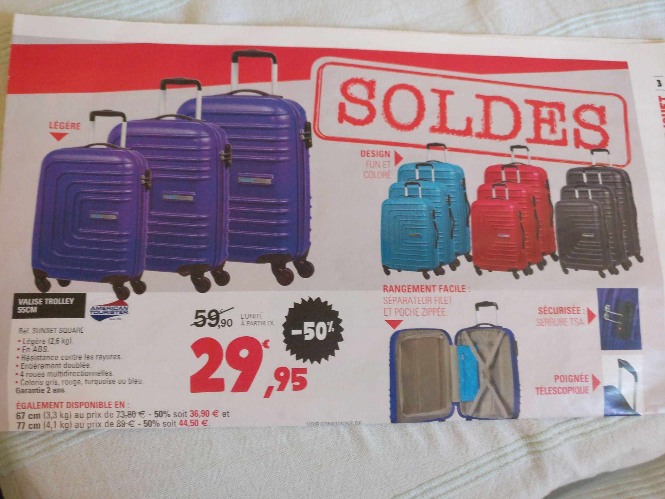 Sélection de Valises Trolley American Tourister - Ex : Valise cabine 55cm
