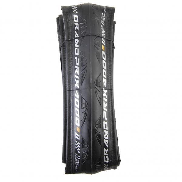 Pneu Continental Grand Prix 4000 S II 700x23c Souple - Noir