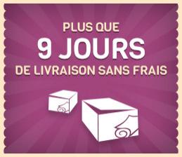 Livraison gratuite sans minimum d'achat + 3€ de réduction dès 10€ d'achats