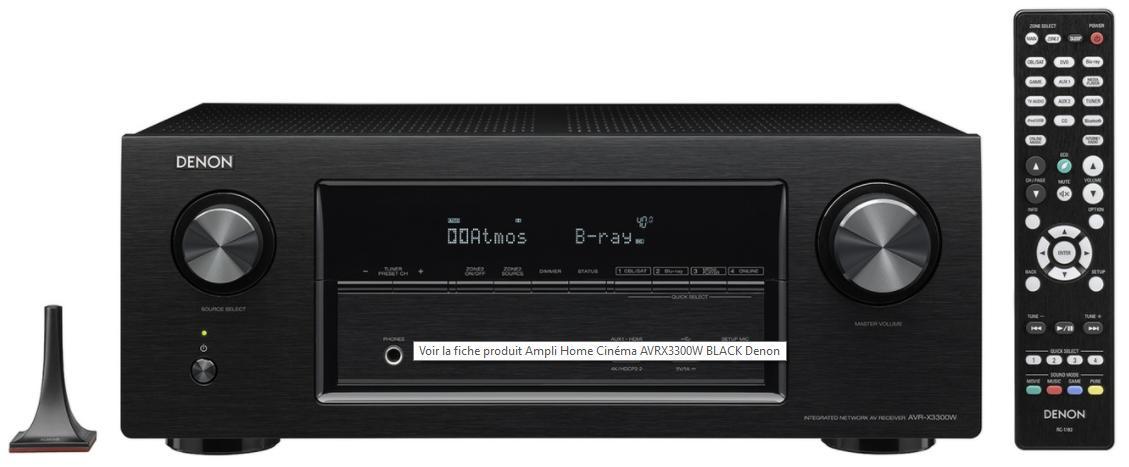 Ampli Home Cinéma Denon AVRX3300W noir