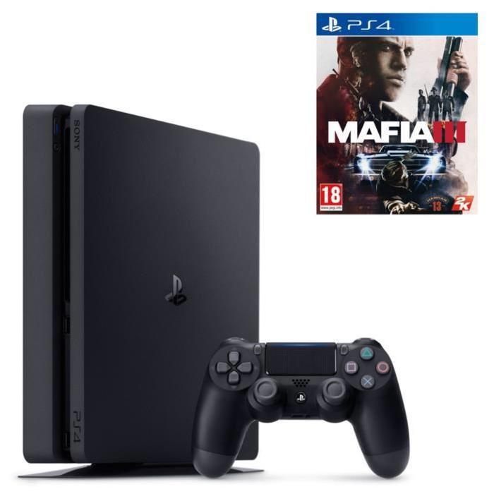 Console Sony PS4 Slim 1To + Mafia 3