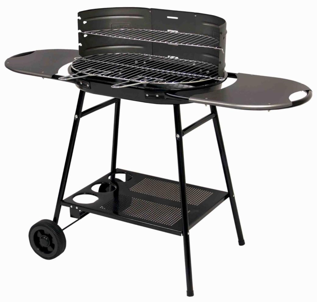 Sélection de barbecues soldés - Ex : Barbecue à charbon sur chariot Rue du commerce Bali - 60 x 40 cm