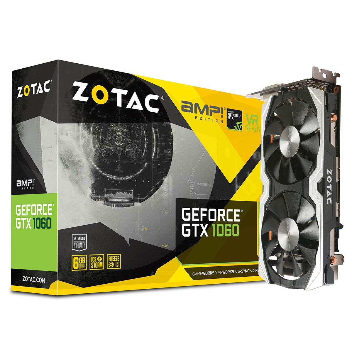 Carte graphique Zotac GeForce GTX 1060 AMP! Edition - 6 Go DDR5 + Rocket League offert
