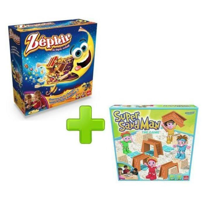 Pack Jeux de Société Goliath Zéphir le Tapis Volant + Super Sand The Game