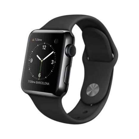 Montre connectée Apple Watch 38mm - Acier, Noir