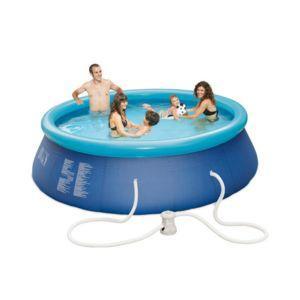Sélection de piscines Carrefour soldées - Ex : Piscine autoportante ronde Acapulco OD66627 avec système de filtration - 3,66 x 0,76 m