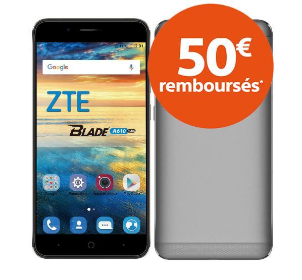 """Smartphone 5.5"""" ZTE Blade A610 Plus - Octa core, 4 Go de RAM, 32 Go, 5000 mAh (via ODR 50€)"""