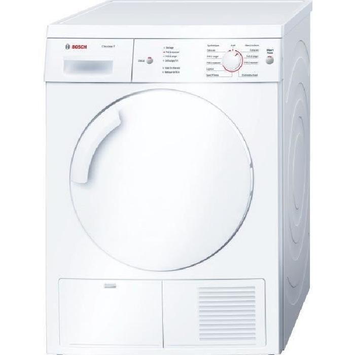 Sèche-linge à condensation Bosch WTE84104FF - 7 kg, classe B, blanc