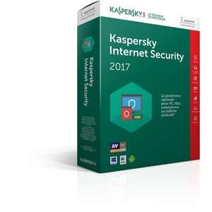 Antivirus Kaspersky Internet Security 2017 - 1 Poste/An