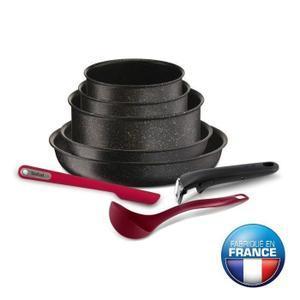 Batterie de cuisine 8 pièces  Tefal Ingenio Pierre Hardica  - Tous feux dont induction