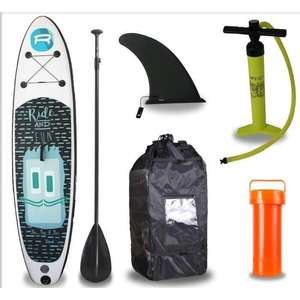 Pack Stand Rohe Up Paddle Gonflable Kiddo 10'6/320cm x 30'' x 6'' avec Pagaie, Pompe et Housse
