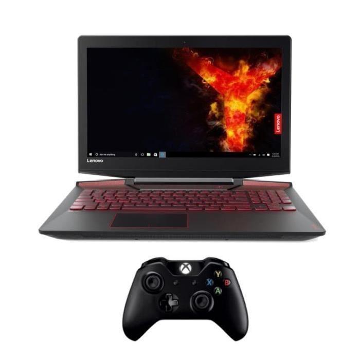 """PC Portable 15.6"""" Lenovo Legion Y720 15IKB (80VR002KFR) - i5-7300HQ, 8 Go RAM, SSD 128Go + HDD 1 To, GTX 1060 - 6 Go GDDR5 + Manette sans fil Xbox One"""