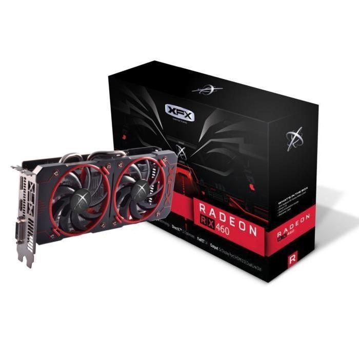 Carte graphique Radeon XFX   RX 460 Dual Fan RS 2Go GDDR5
