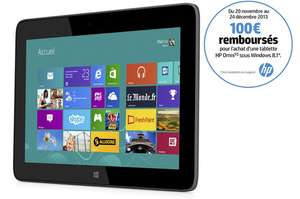 "Tablette HP Omni 10"" Full HD - 32 Go, Windows 8.1 + Ecouteurs intra-auriculaires HP H2300 (Avec ODR de 100€)"
