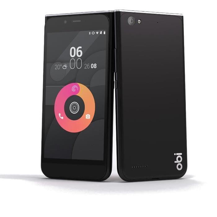 """Smartphone 5"""" HD Obi MV1 (Snapdragon 212, 16 Go ROM + slot SD, 2 Go RAM, Dual Sim, 4G) (via ODR 30€)"""