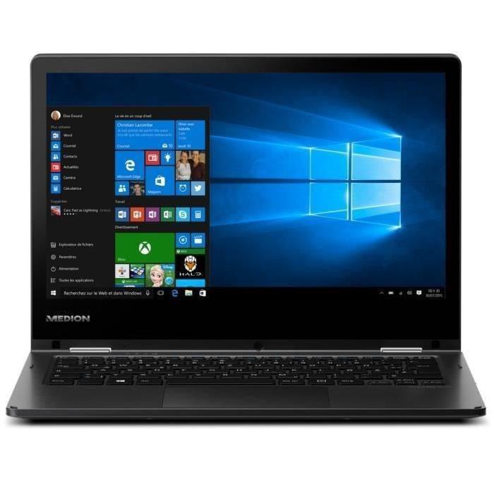 """PC portable tactile 11.6"""" Medion Akoya E2215T-MD 60187 - Z8350, 2 Go de RAM, eMMC 32Go"""
