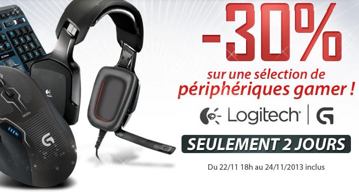 -30% sur 5 périphériques gaming Logitech (Souris G500s, Claviers G510s & G19s, Casques G35 & G930)