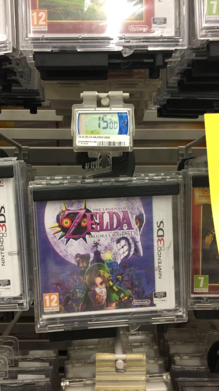 Jeu Zelda majora mask sur Nintendo 3DS